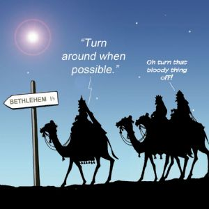 TW299 – Sat Nav Issues Happy Christmas Card
